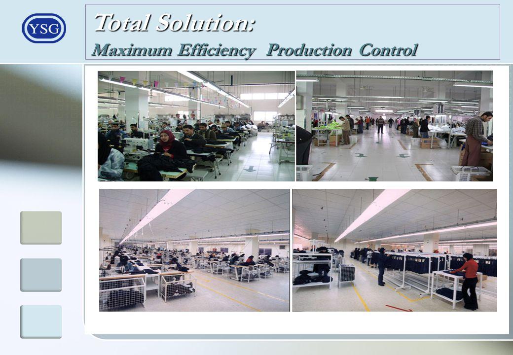 Total Solution: Maximum Efficiency Production Control