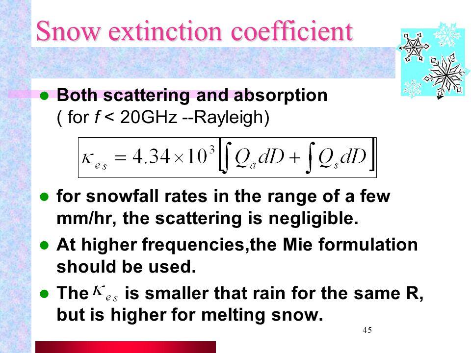 44 Rain retrieval Algorithms Several types of algorithms used to retrieve rainfall rate with polarimetric radars; mainly R(Zh), R(Zh, Zdr) R(Kdp) R(Kd