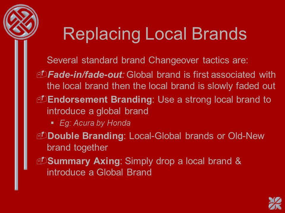 Top Global Brands 1.Coca Cola 2.Sony 3.Mercedes-Benz 4.Kodak 5.Disney 6.Nestle 7.Toyota 8.McDonalds 9.IBM 10.Pepsi-Cola 11.Rolls-Royce 12.Honda 13.Pan