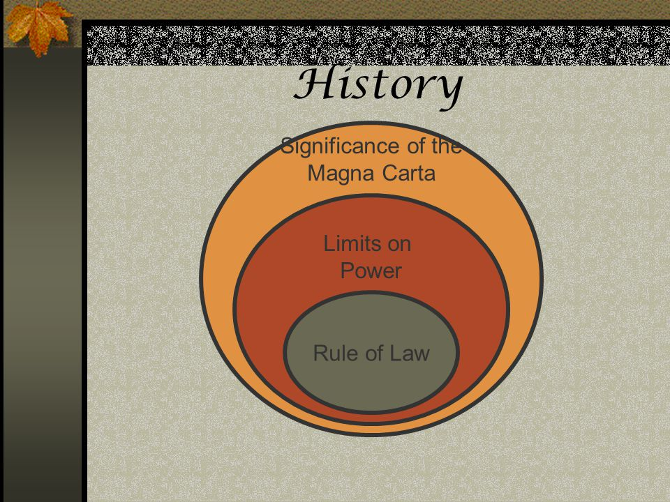 History Significance of the Magna Carta Limits on Power Rule of Law