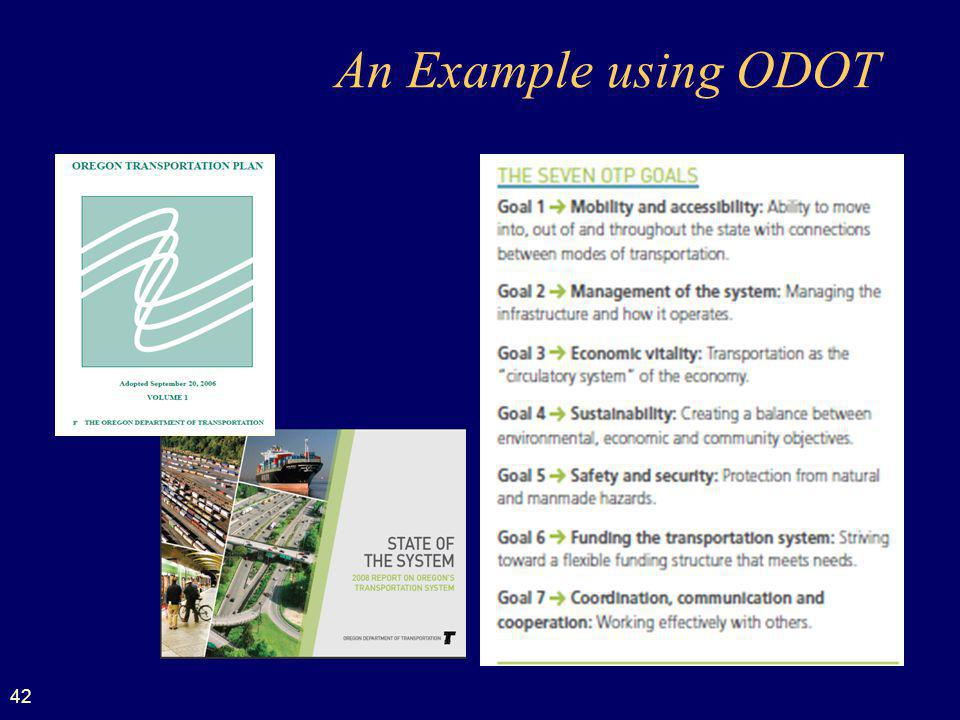 42 An Example using ODOT