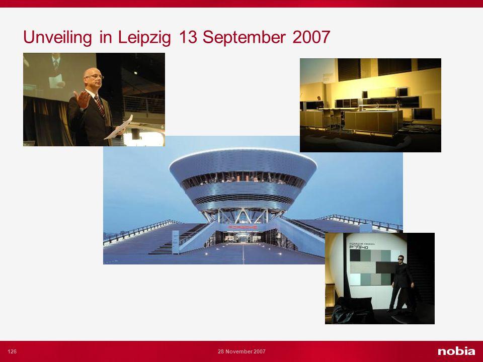 126 28 November 2007 Unveiling in Leipzig 13 September 2007