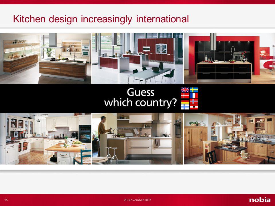 15 28 November 2007 Kitchen design increasingly international