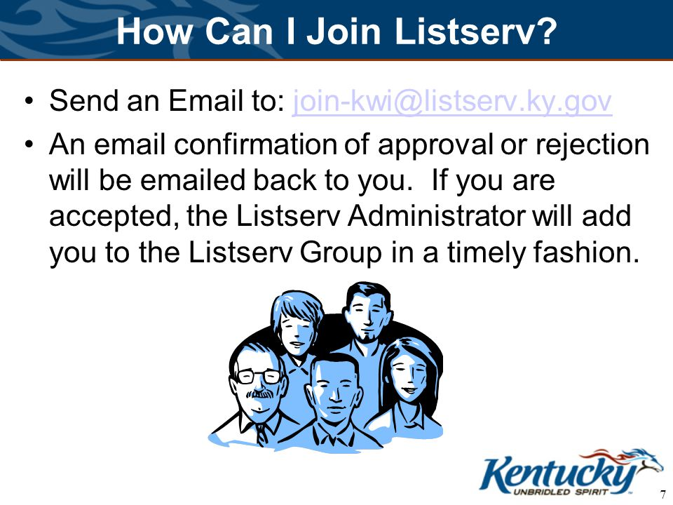 7 How Can I Join Listserv.