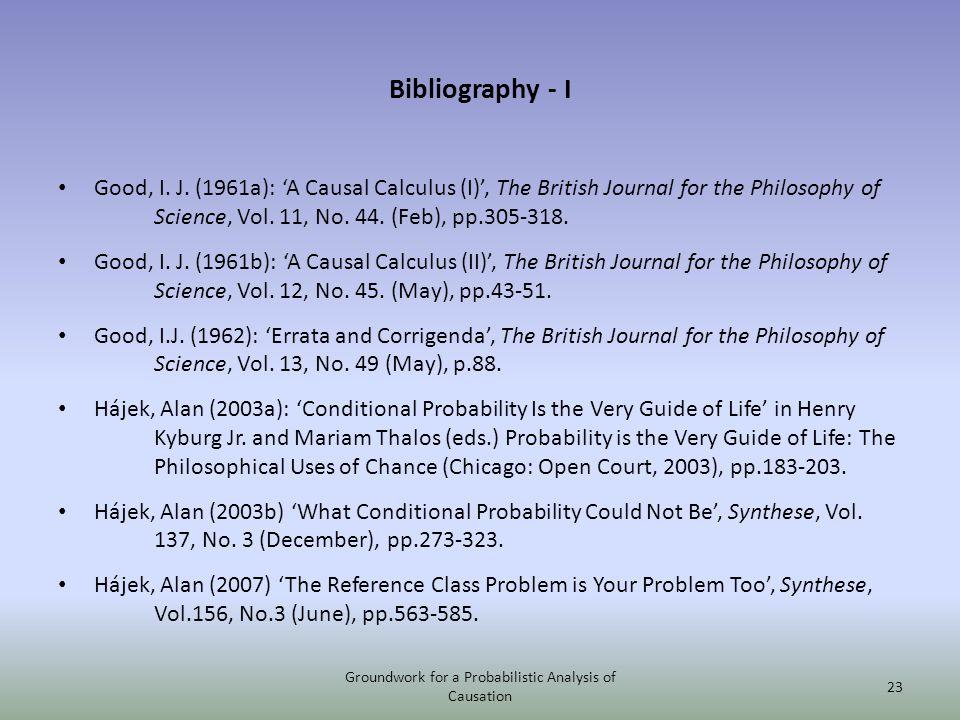 Bibliography - I Good, I. J.