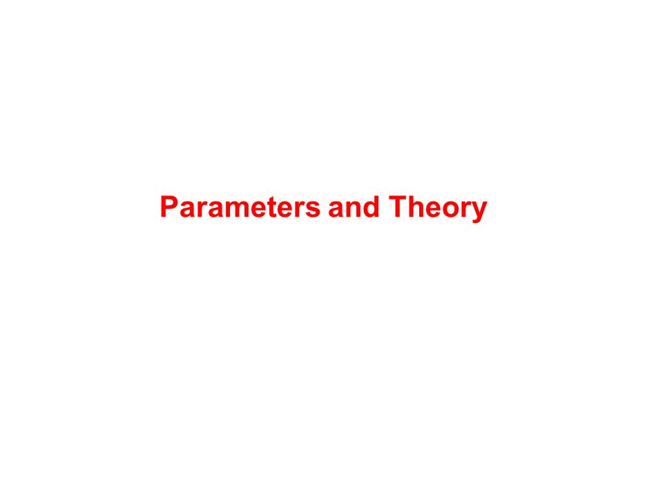 Parameters and Theory