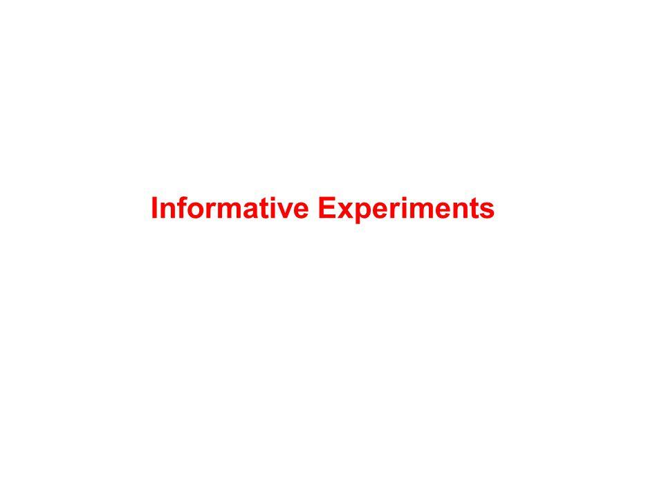 Informative Experiments