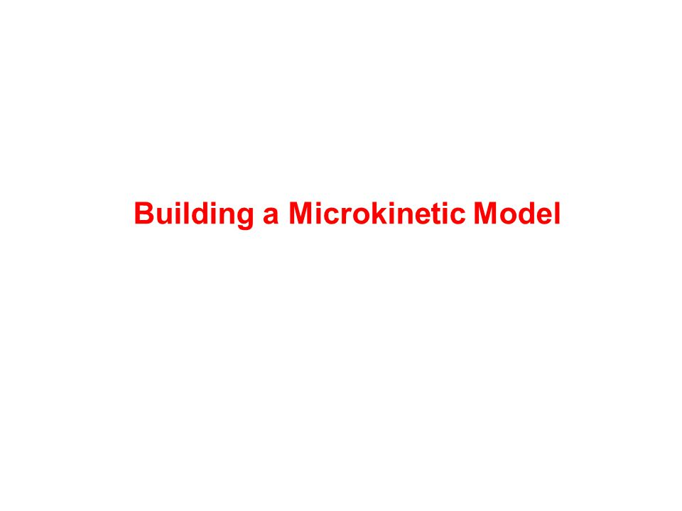 Building a Microkinetic Model