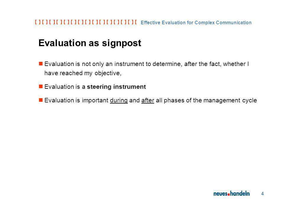 [ ] [ ] [ ] [ ] [ ] [ ] [ ] [ ] [ ] [ ] [ ] [ ] [ ] [ ] [ ] [ ] [ ] [ ] [ ] [ ] [ Effective Evaluation for Complex Communication 4 Evaluation as signp
