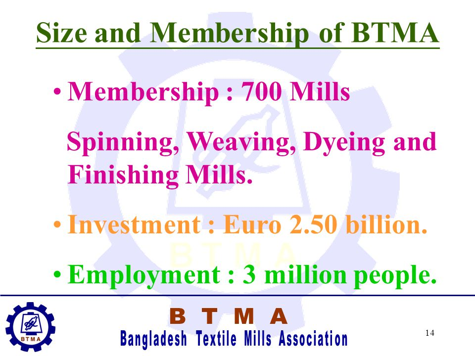 13 SIZE AND GROWTH OF BANGLADESH TEXTILE INDUSTRY
