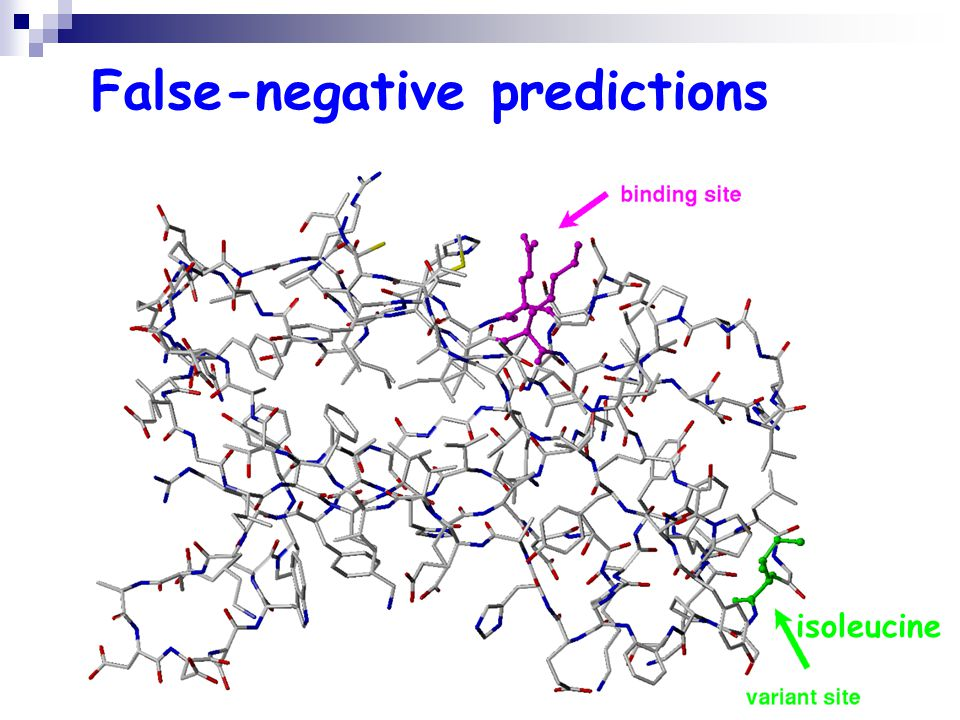 False-negative predictions isoleucine