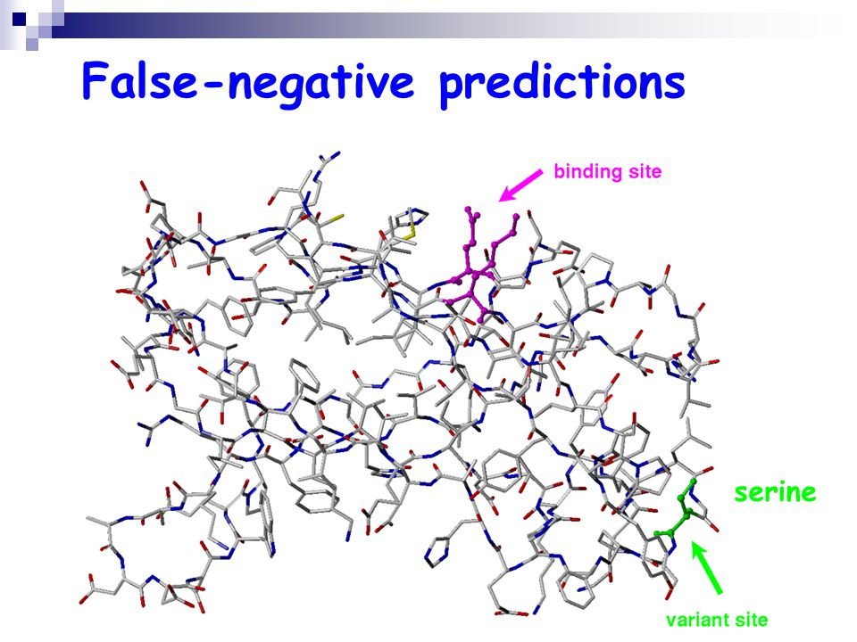 False-negative predictions serine