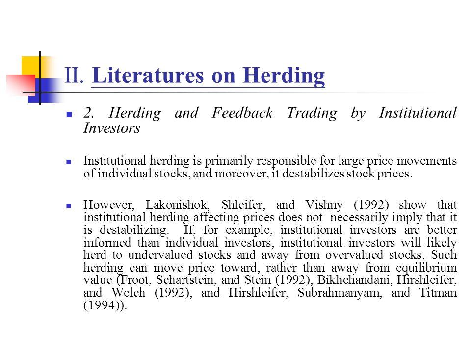 II.Literatures on Herding II.3.