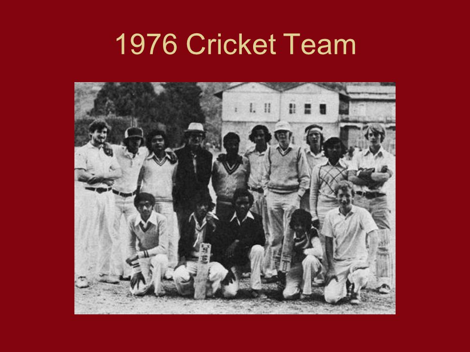 1976 Cricket Team