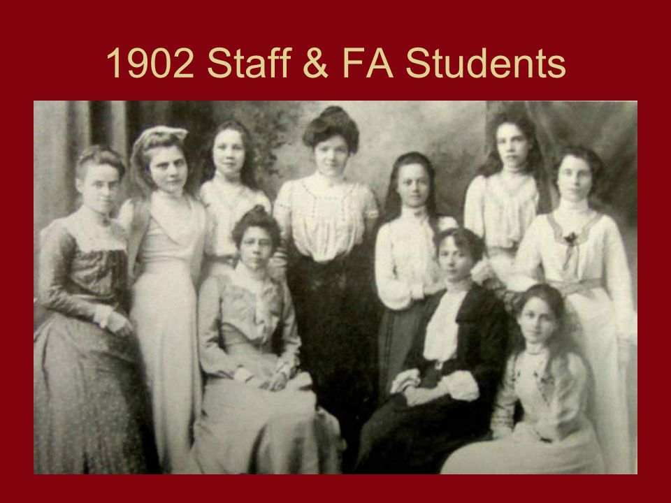 1902 Staff & FA Students