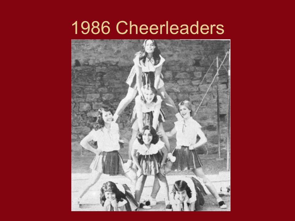 1986 Cheerleaders