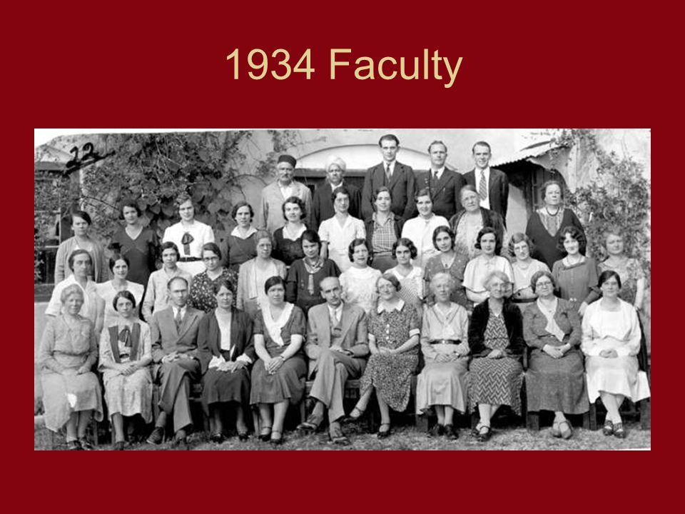 1934 Faculty