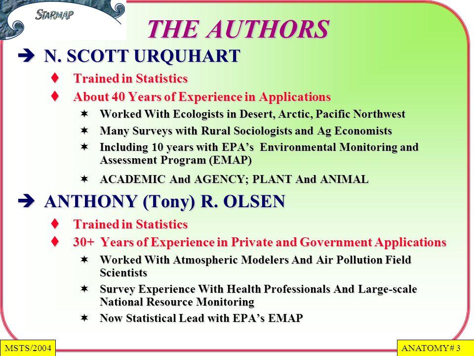 ANATOMY # 3MSTS/2004 THE AUTHORS N.SCOTT URQUHART N.