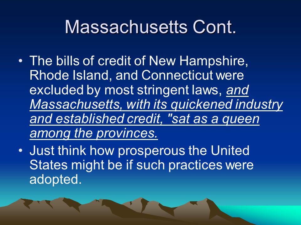Massachusetts Cont.