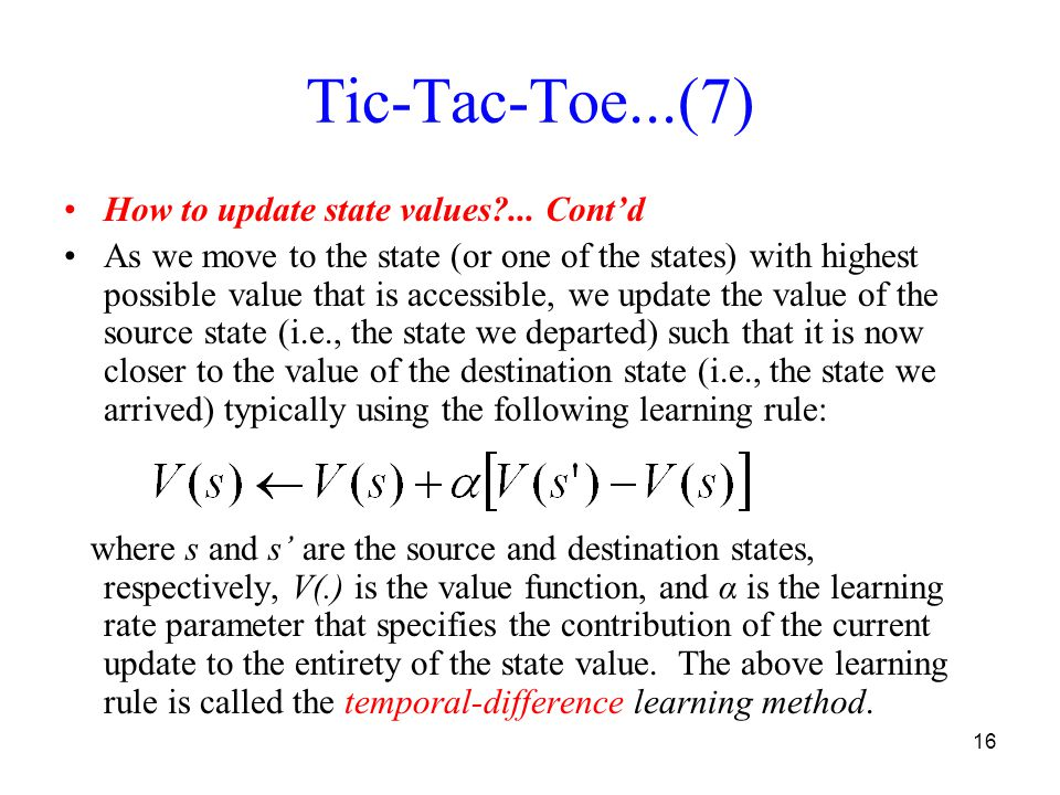 16 Tic-Tac-Toe...(7) How to update state values ...