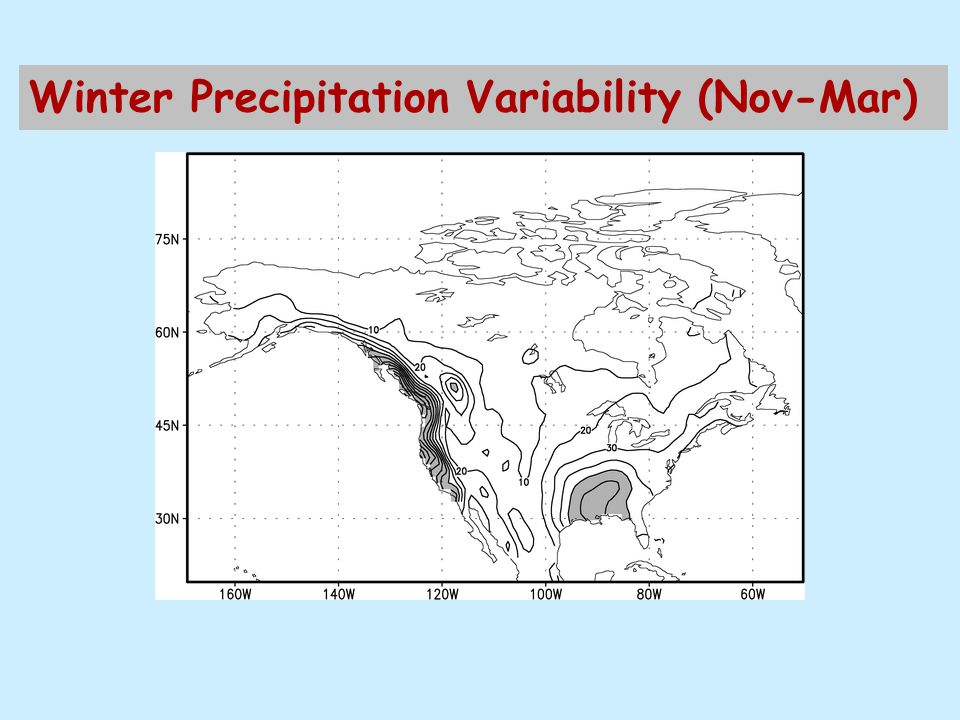 Winter Precipitation Variability (Nov-Mar)