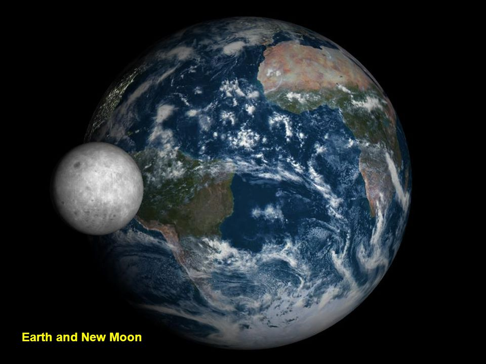 The Earth with a rising moon