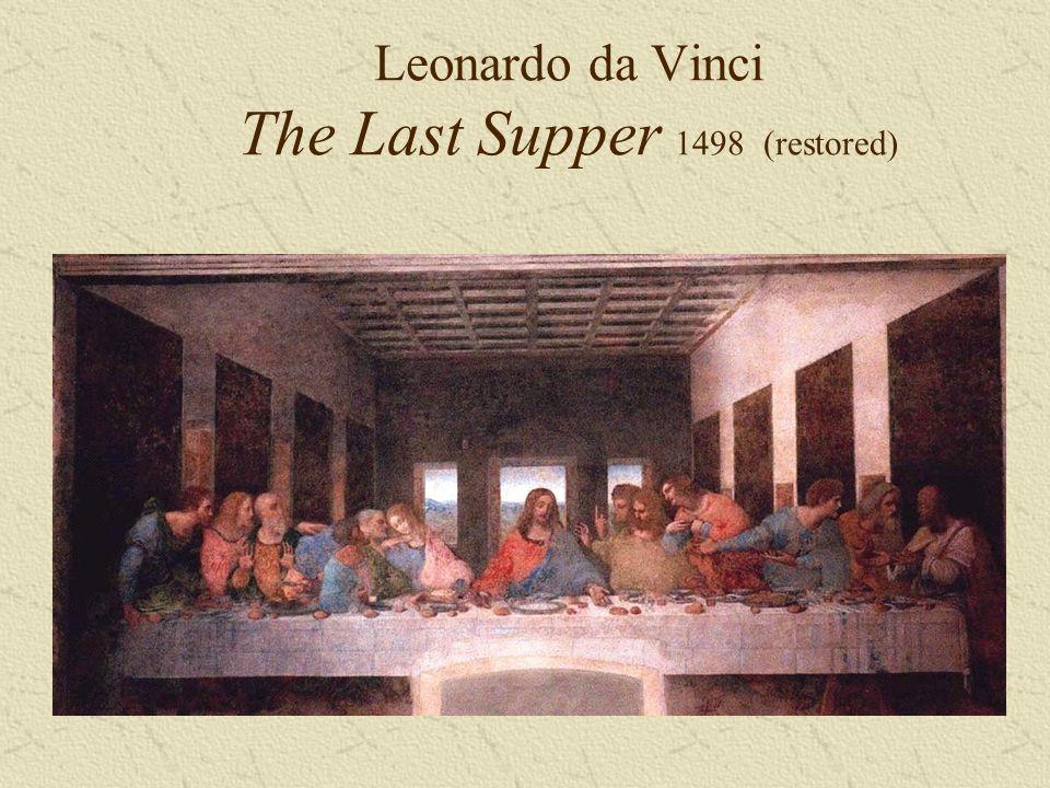 Leonardo da Vinci The Last Supper 1498(restored)