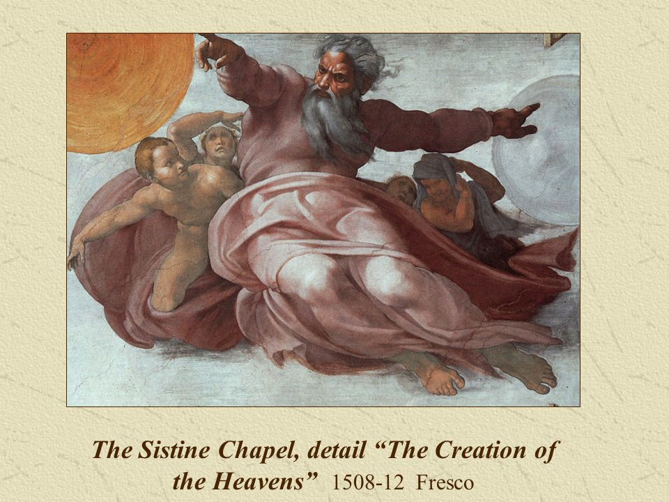 The Sistine Chapel, detail The Creation of the Heavens Fresco