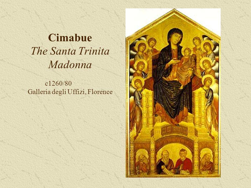 Cimabue The Santa Trinita Madonna c1260/80 Galleria degli Uffizi, Florence
