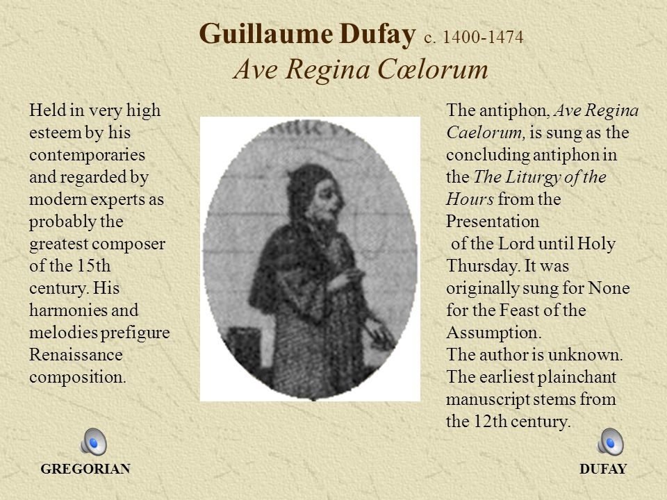 Guillaume Dufay c.