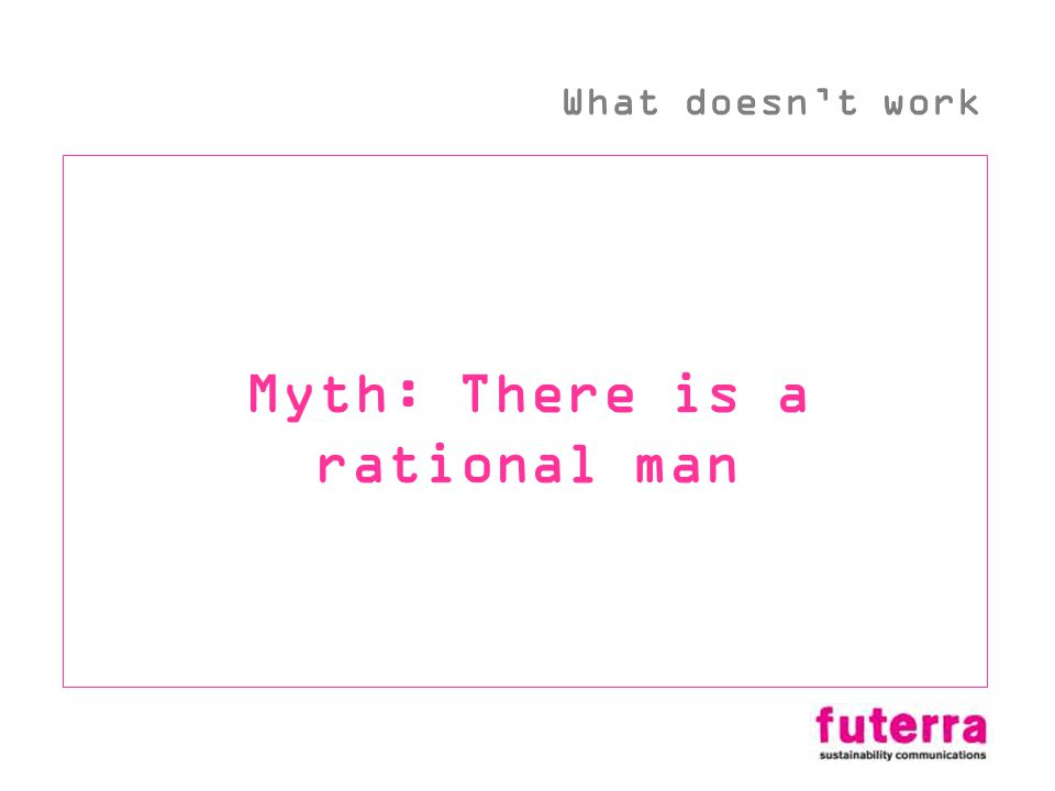 Myth: There is a rational man What doesnt work