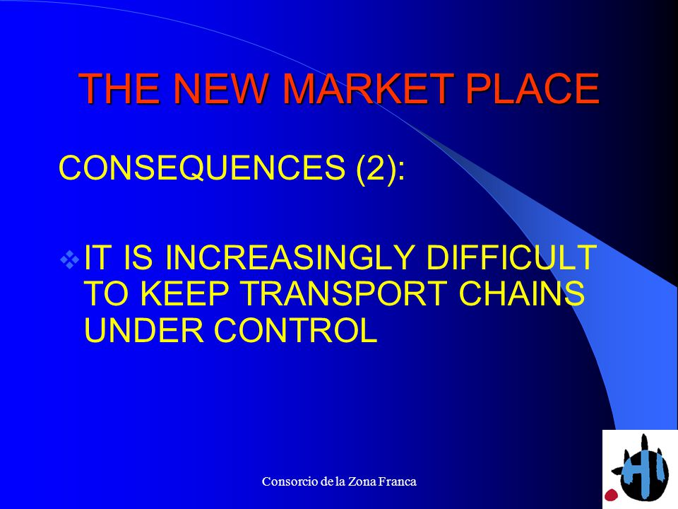 Consorcio de la Zona Franca THE NEW MARKET PLACE CONSEQUENCES (2): IT IS INCREASINGLY DIFFICULT TO KEEP TRANSPORT CHAINS UNDER CONTROL