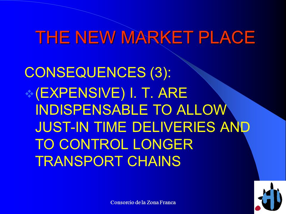 Consorcio de la Zona Franca THE NEW MARKET PLACE THE NEW MARKET PLACE CONSEQUENCES (3): (EXPENSIVE) I.