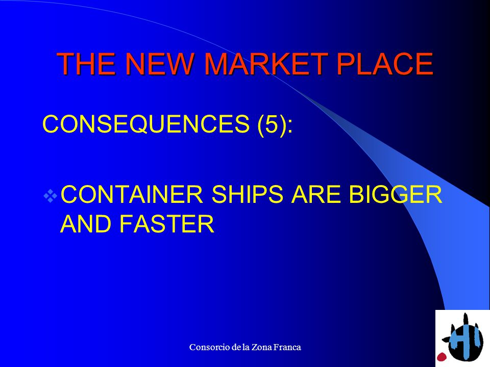 Consorcio de la Zona Franca THE NEW MARKET PLACE CONSEQUENCES (5): CONTAINER SHIPS ARE BIGGER AND FASTER