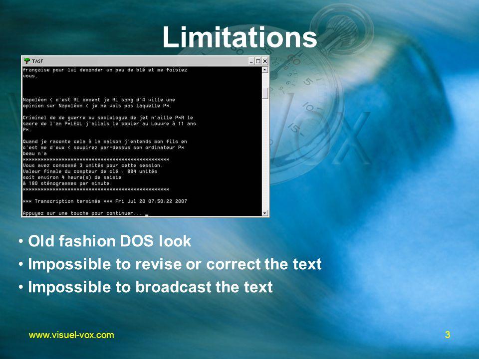 13www.visuel-vox.com Editing via Internet