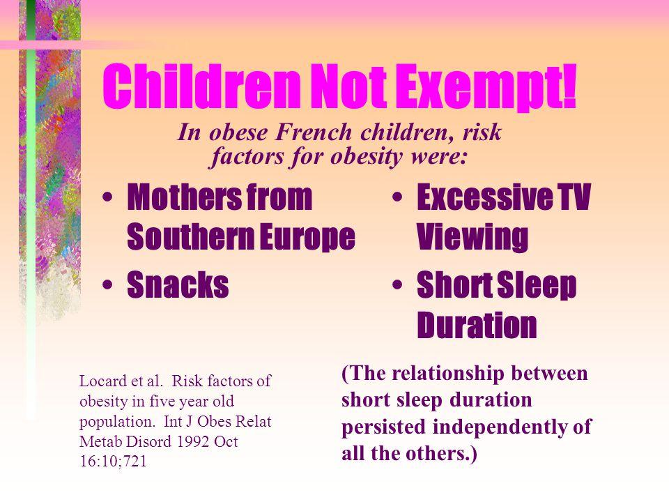 Children Not Exempt.