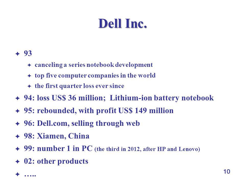 10 Dell Inc.