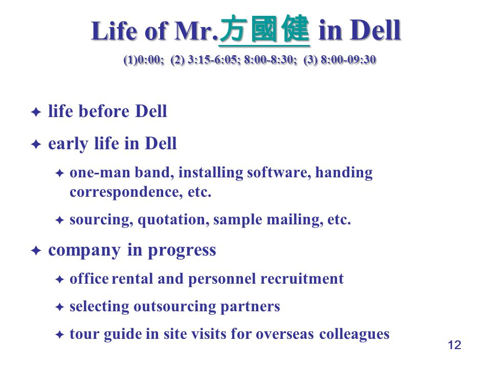 12 Life of Mr.