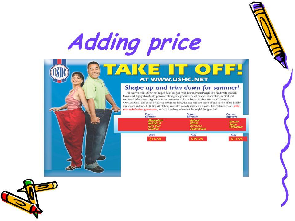 Adding price