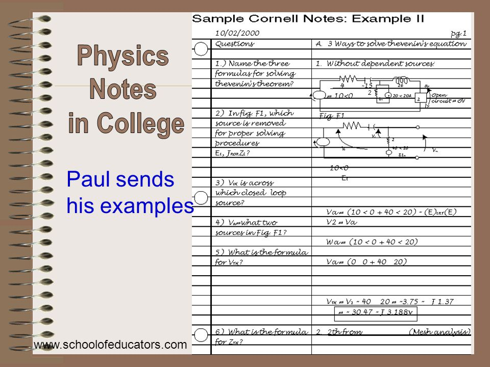 Paul sends his examples www.schoolofeducators.com