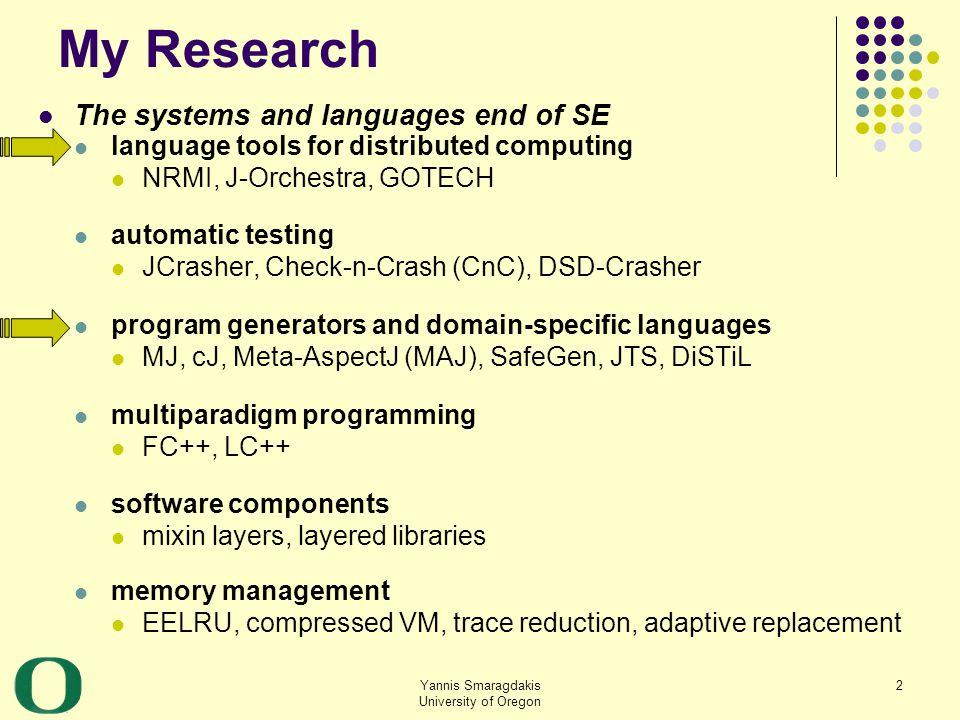 Yannis Smaragdakis University of Oregon 43 Algorithm (by example): adjust links out of original objects 4 18 09 tree 2 alias2 t 4 18 09 alias1 Network Client site temp