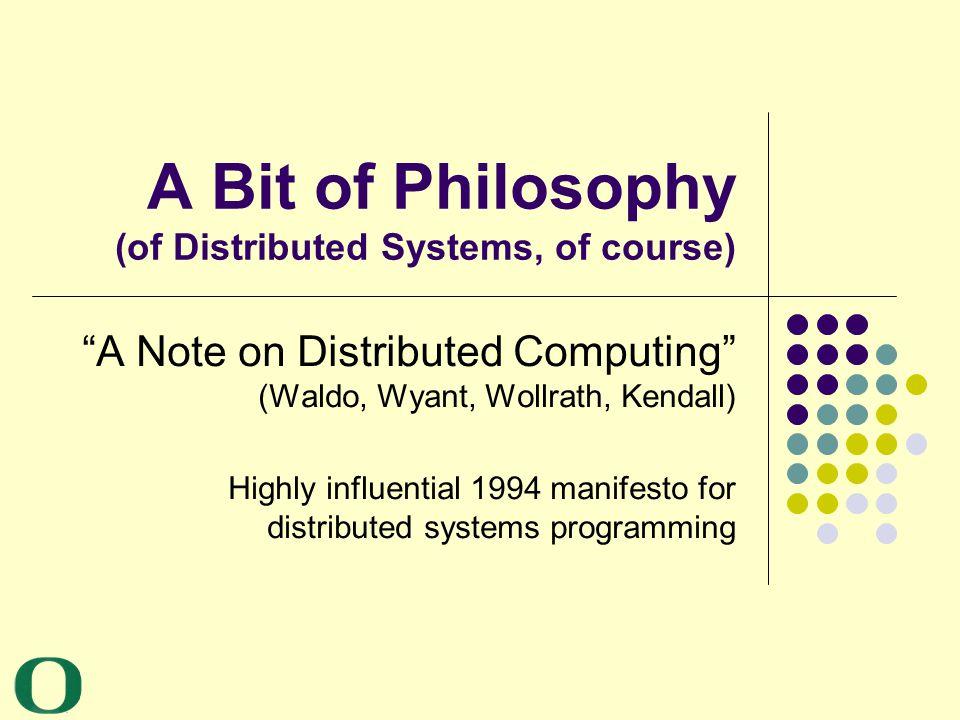 Yannis Smaragdakis University of Oregon 18 NFS Case Study The Note argues that the interface (read, write, etc.