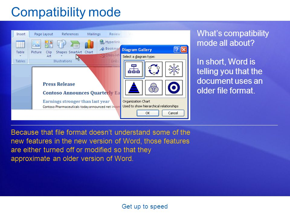 Get up to speed Compatibility mode Whats compatibility mode all about.