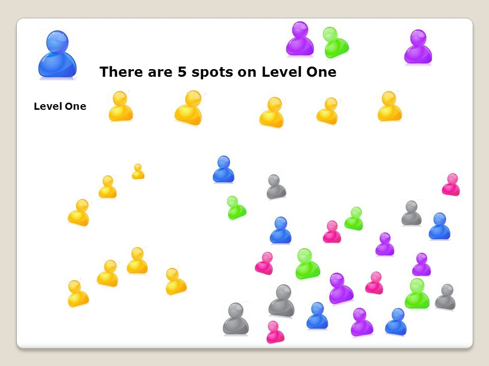 There are 5 spots on Level One Level One