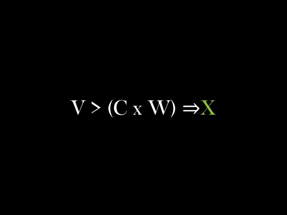 V > (C x W) X
