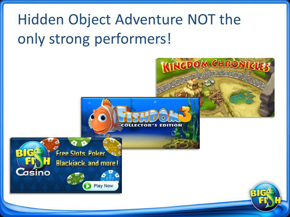 Hidden Object Adventure NOT the only strong performers!