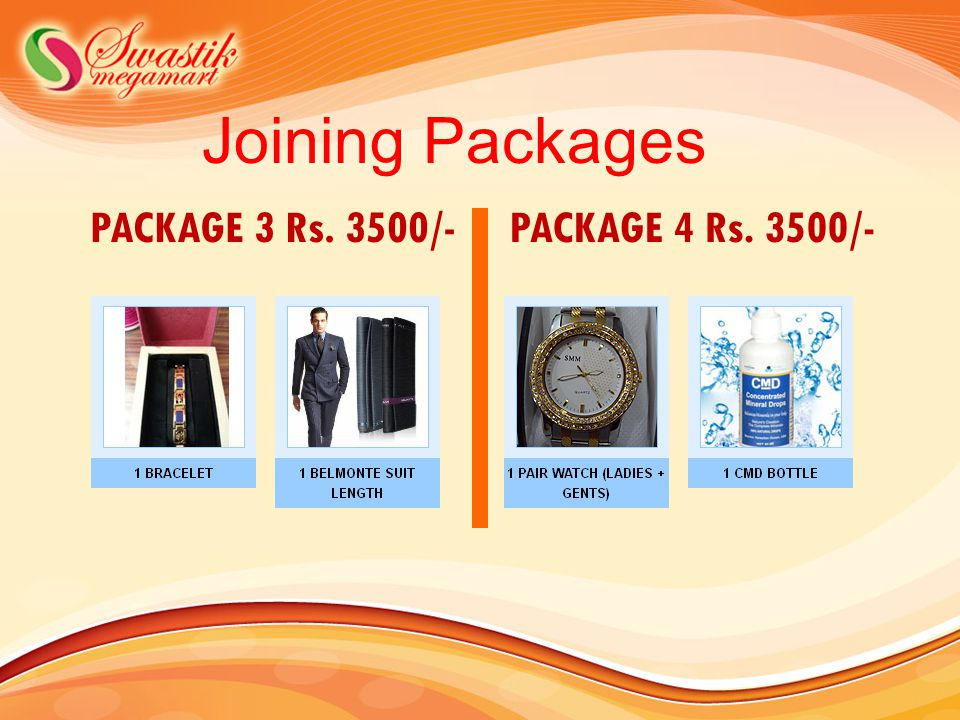 Joining Packages PACKAGE 3 Rs. 3500/-PACKAGE 4 Rs. 3500/-