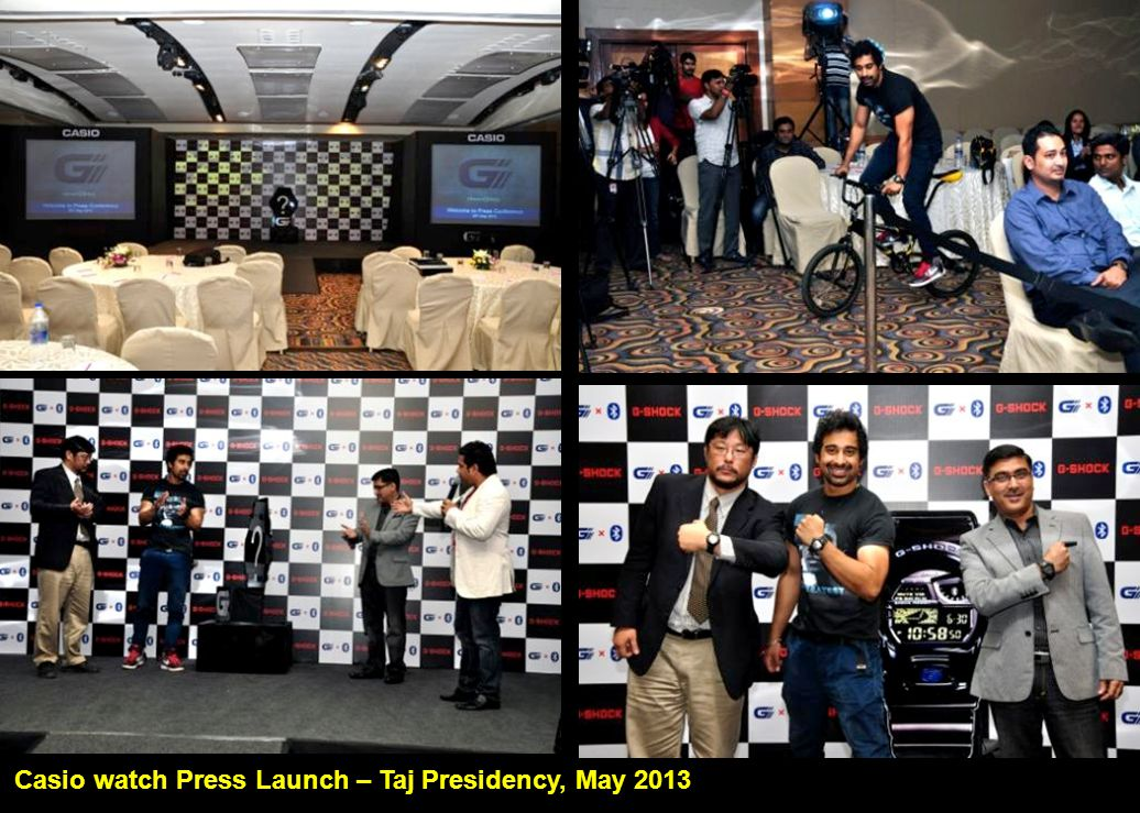Casio watch Press Launch – Taj Presidency, May 2013