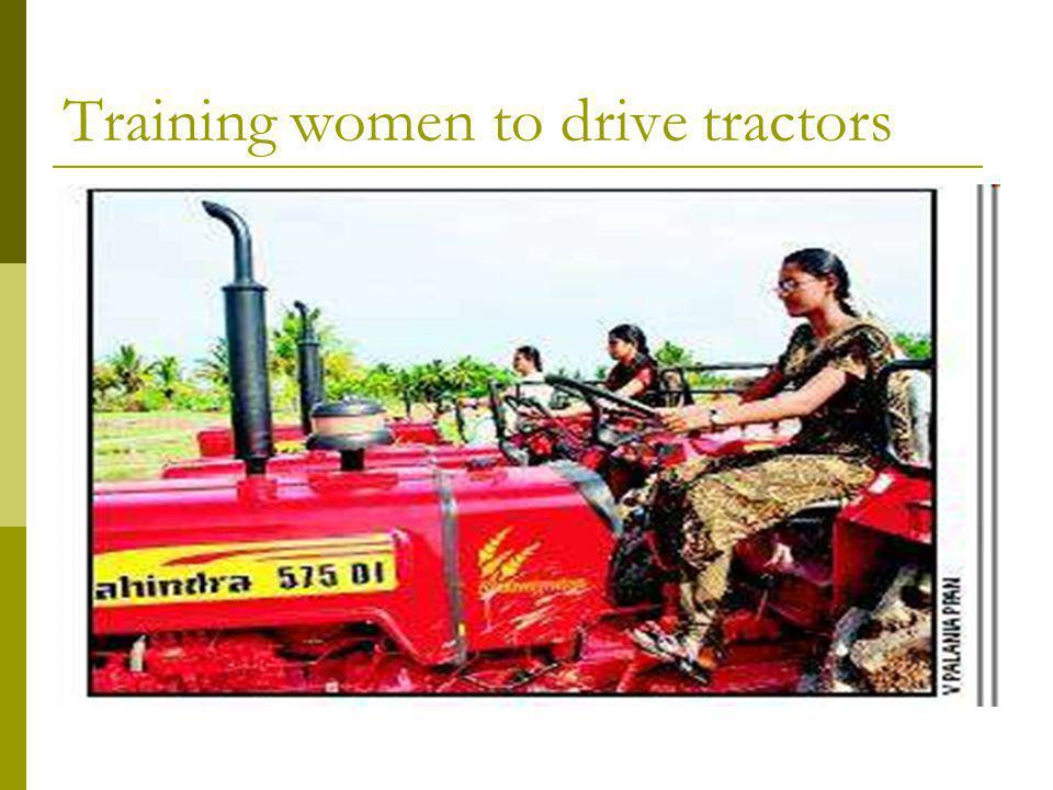 Training women to drive tractors