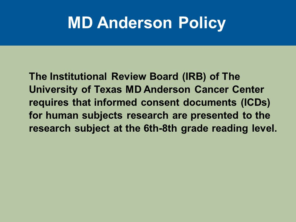 Boilerplate Consent Examples While on this study, you are at risk for side effects.